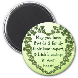 Imã Ímã irlandês do coração da bênção