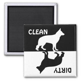 Imã Ímã limpo sujo da máquina de lavar louça do cão de