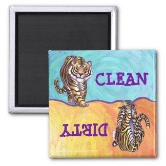 Imã Ímã limpo sujo da máquina de lavar louça do tigre