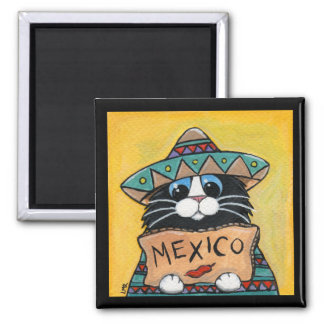 Imã Ímã mexicano do gato do smoking do Hitchhiker