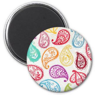 Imã Ímã na moda do arco-íris de Paisley do indiano de