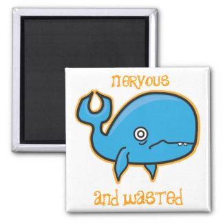 Imã ímã nervoso e desperdiçado da baleia