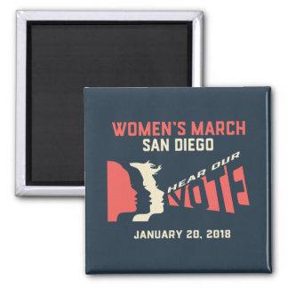 Imã Ímã oficial do março San Diego março das mulheres