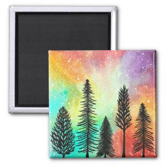 Imã Ímã Pastel da galáxia do pinheiro, pintura da arte