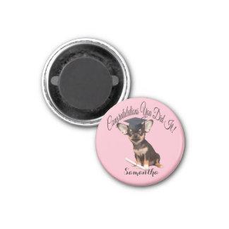 Imã Ímã personalizado chihuahua do cão da graduação