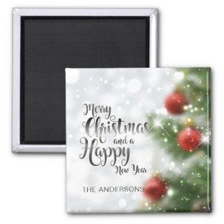 Imã Ímã personalizado da árvore | do Feliz Natal