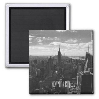 Imã Ímã preto & branco do quadrado da Nova Iorque