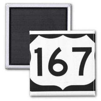 Imã Ímã preto e branco da estrada 167 de Louisiana