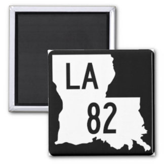 Imã Ímã preto e branco da estrada 82 de Louisiana