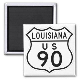 Imã Ímã preto e branco da estrada 90 de Louisiana E.U.