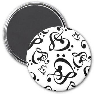 Imã Ímã preto e branco do teste padrão da música