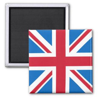 Imã Ímã quadrado BRITÂNICO - Union Jack com azul