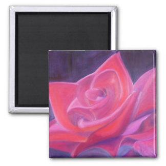 Imã Ímã quadrado da rosa vermelha