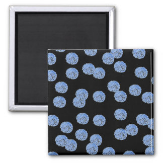 Imã Ímã quadrado das bolinhas azuis