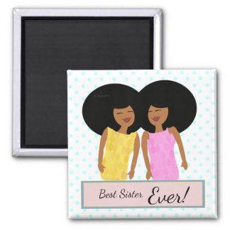 Imã Ímã quadrado das irmãs gêmeas pretas