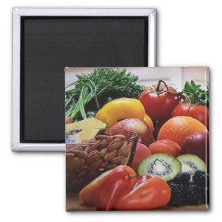 Imã Ímã quadrado do loucos da fruta e o vegetal