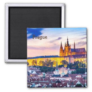 Imã Ímã quadrado Praga de 2 polegadas
