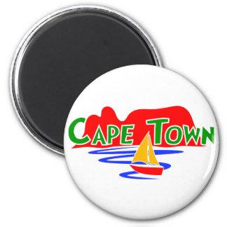 Imã Ímã redondo da montanha da mesa de Cape Town