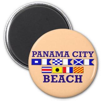 Imã Ímã redondo da praia da Cidade do Panamá