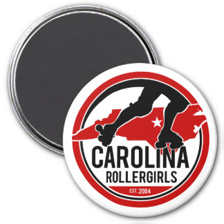 Imã Ímã redondo de Carolina Rollergirls