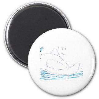 Imã Ímã redondo do botão da baleia de Wally