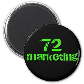 Imã ímã redondo do logotipo 72marketing por estes do