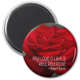 Imã Ímã redondo minha rosa vermelha do amor