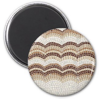 Imã Ímã redondo padrão do mosaico bege