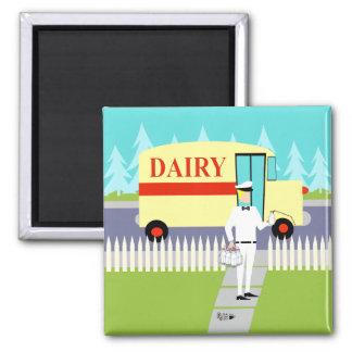 Imã Ímã retro do Milkman da cidade pequena