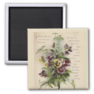 Imã Ímã roxo do poema dos Pansies do Victorian