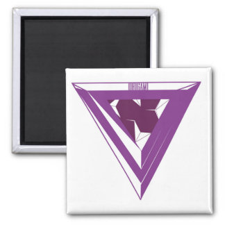 Imã Ímã roxo do triângulo de Origami