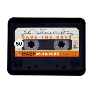 Ímã Imã salve a data do aniversário da cassete áudio