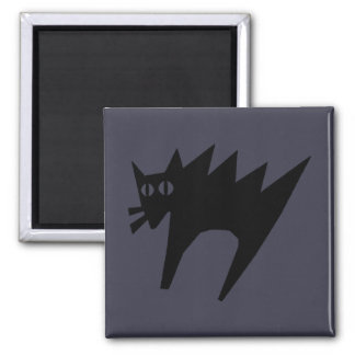 Imã Ímã Scared do Dia das Bruxas do gato preto