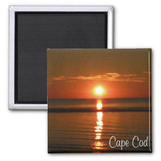 Imã Ímã unset vermelho da foto da praia de Cape Cod