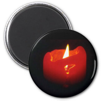 Imã Ímã - vela vermelha com chama