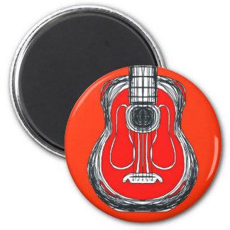 Imã Ímã vermelho da cara do monstro da guitarra