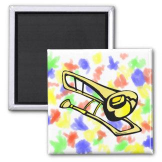 Imã imagem amarela estilizado do gráfico do trombone