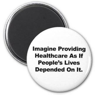 Imã Imagine as vidas do pessoa dos cuidados médicos