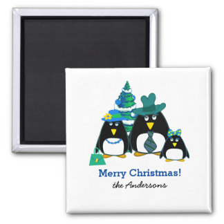 Imã Ímãs engraçados do presente do Natal da família do