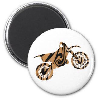 Imã Ímãs psicadélicos da bicicleta da sujeira de Brown