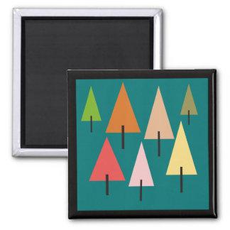 Imã Impressão artística da floresta