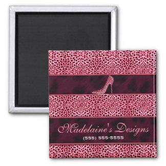 Imã Impressão cor-de-rosa selvagem e feminino da chita