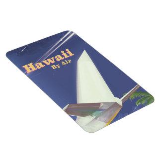 Ímã Impressão das férias do vintage do vôo de Havaí