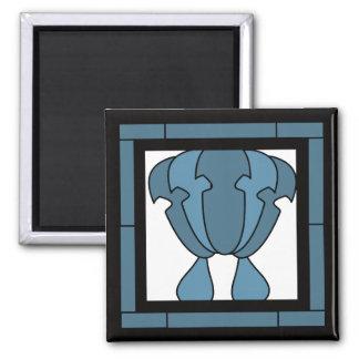 Imã Impressão do artista do azulejo da tulipa