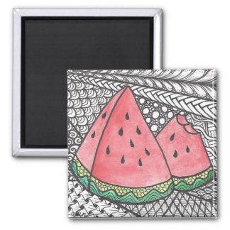Imã Impressão do desenho da melancia do Doodle no ímã
