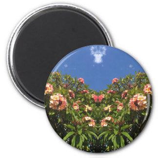 Imã Impressão do Frangipani da flor