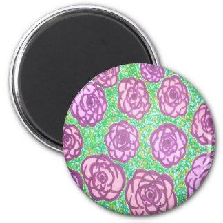 Imã Impressão floral do jardim de rosas formal
