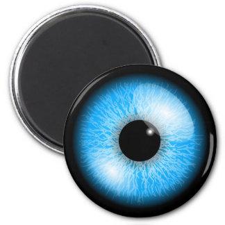 Imã Impressão realístico azul assustador do globo