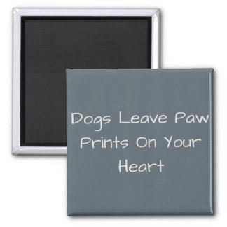 Imã Impressões da pata da licença dos cães em seu