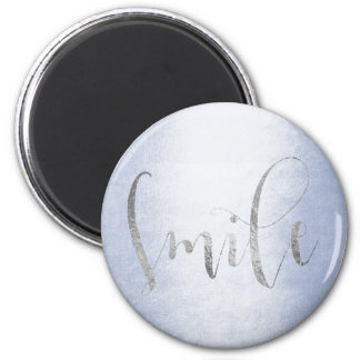 Imã Incentivo Pastel azul de Ombre das cinzas de prata